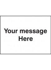 Door Screen Sign - Custom (Your Message)