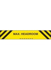 MaxHeadroom - Reflective Aluminium - 1200 x 150mm