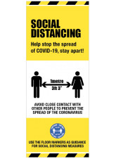 Roll Up Banner - Help stop the Spread - 1m / 2m / Generic Distance Options