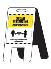 Social Distancing Lightweight A-Frame - 1m / 2m / Generic Distance Options