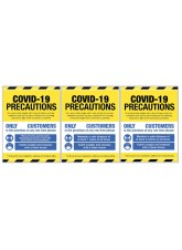 COVID 19 Precautions - 1m / 2m / Generic Distance Options - Yellow