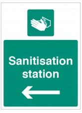 Sanitisation Station - Arrow Left
