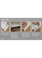 Sign Clip for Fluted Polypropylene