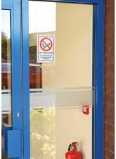 No Smoking Double Sided Window Sticker