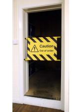 Door Screen Sign - No Entry Caution Men At Work